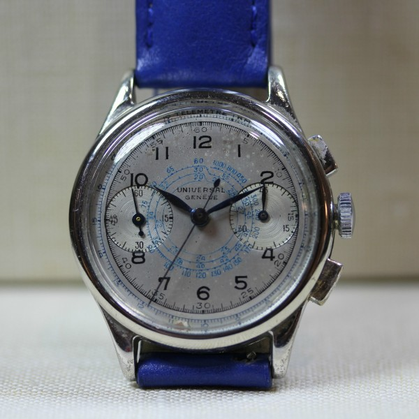 12dde4e7f VINTAGE STAINLESS STEEL UNIVERSAL GENEVE BERTHOUD CASE AND MOVEMENT