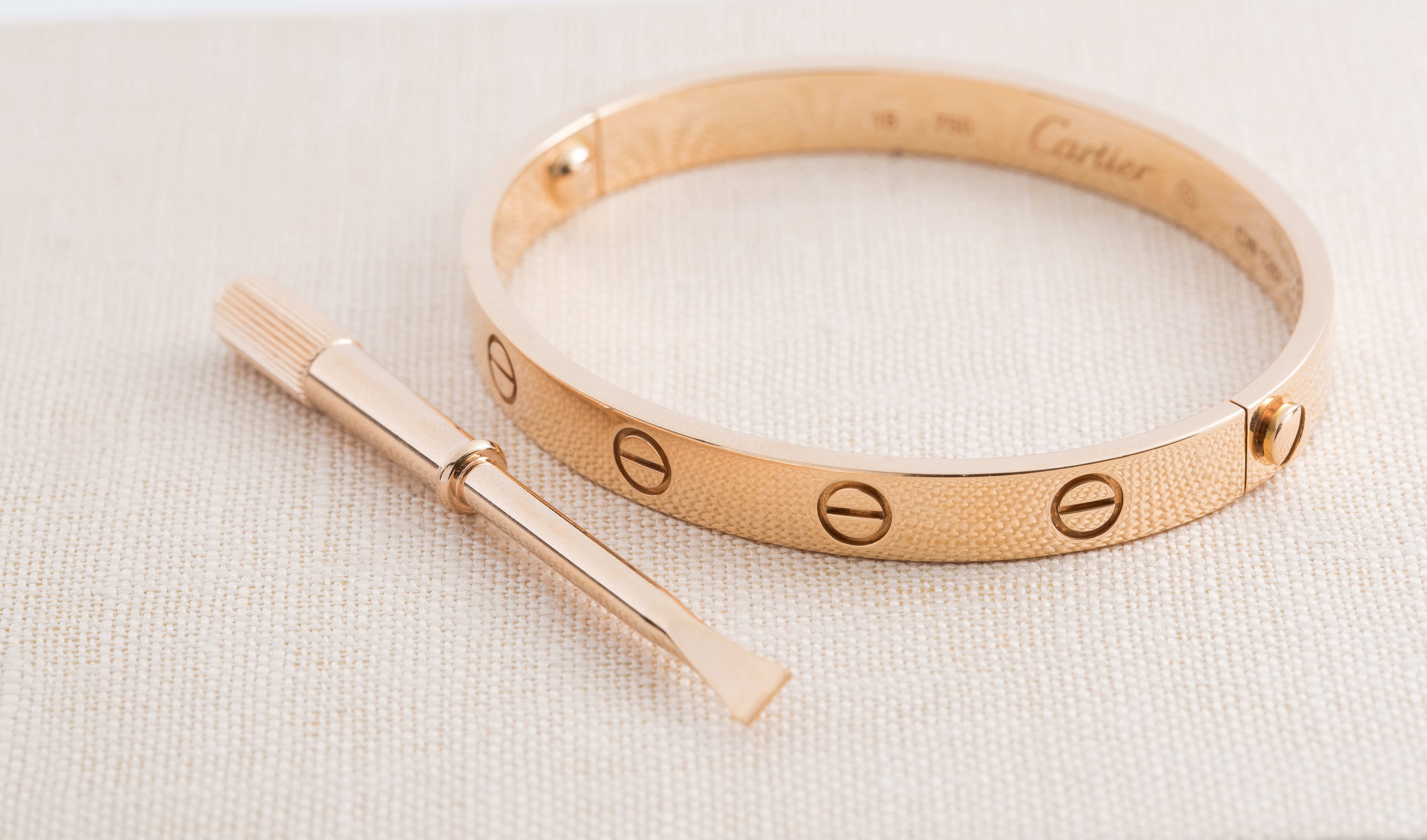 Vintage Cartier Love Bracelet Rose Gold Sz 18