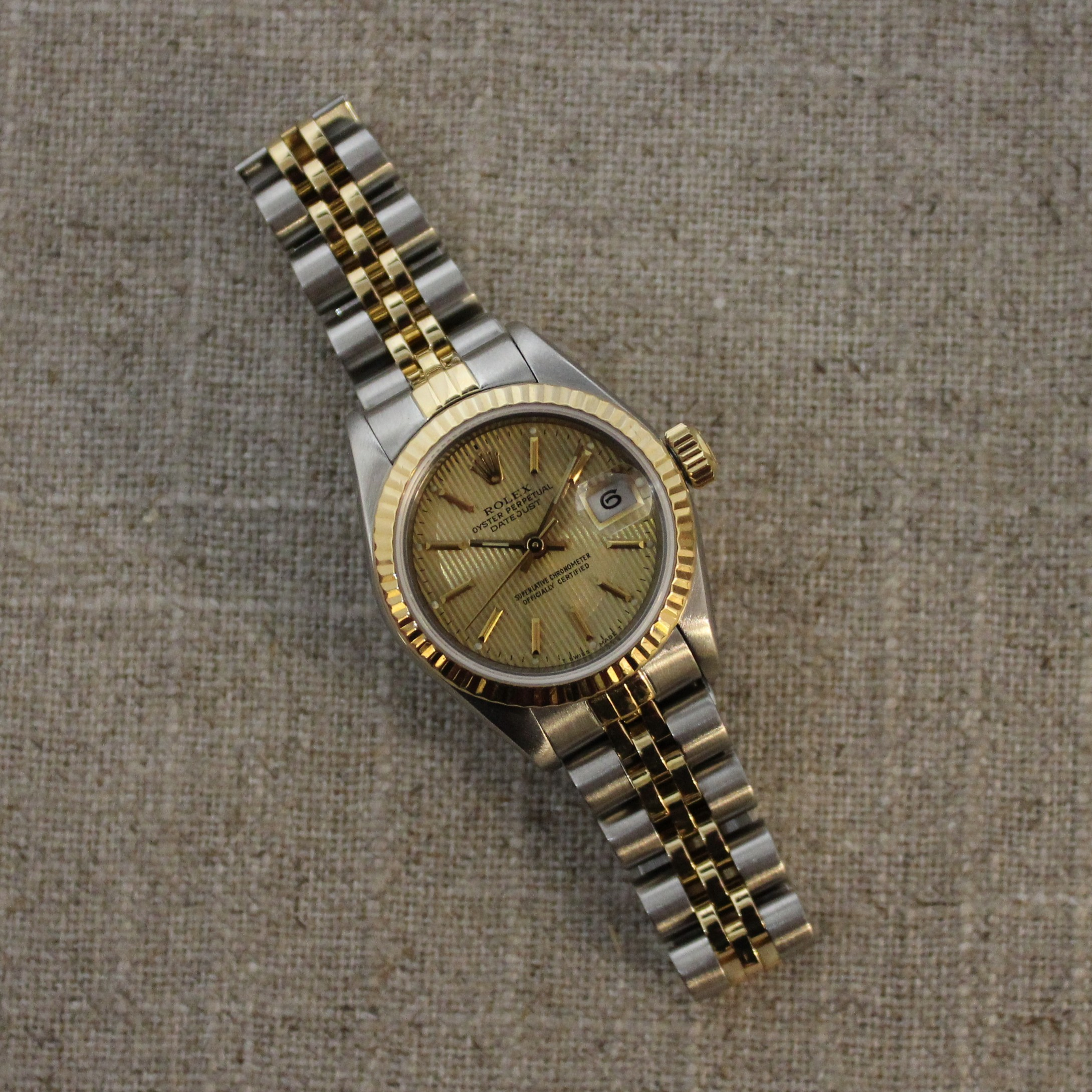 STAINLESS STEEL AND 18K YELLOW GOLD ROLEX DATEJUST 26MM