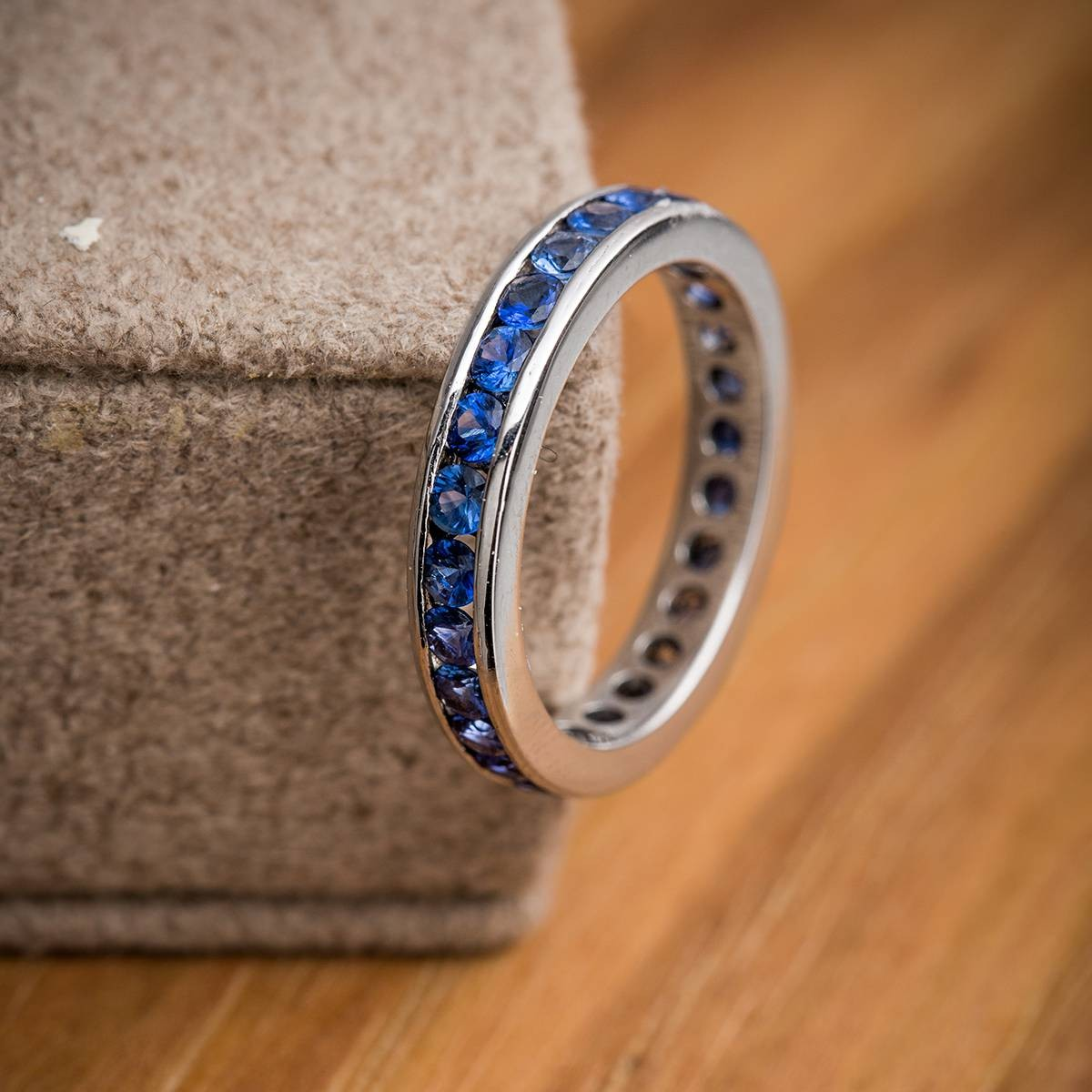 Vintage 18k Gold and Sapphire Eternity Band