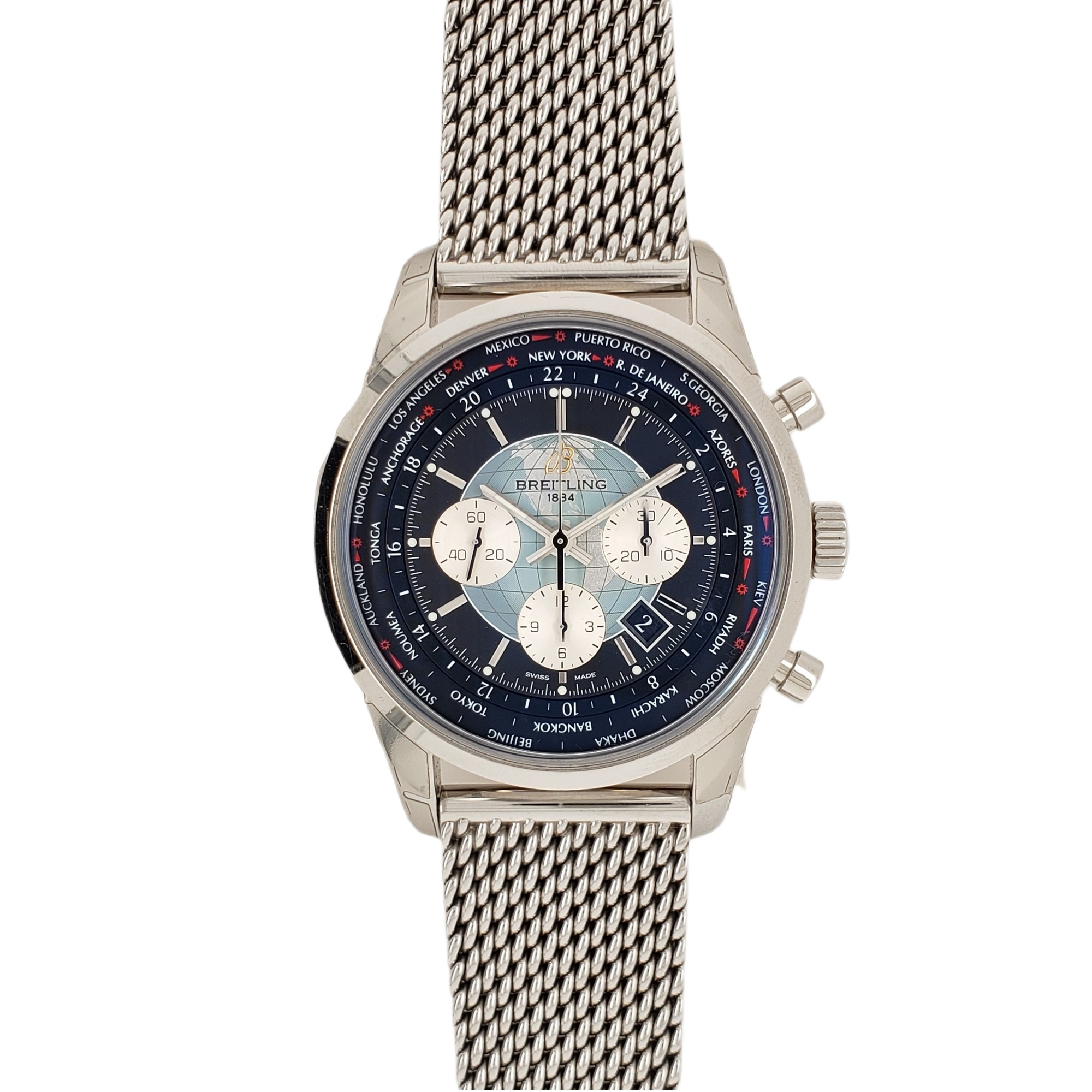 STAINLESS STEEL BREITLING TRANSOCEAN CHRONOGRAPH