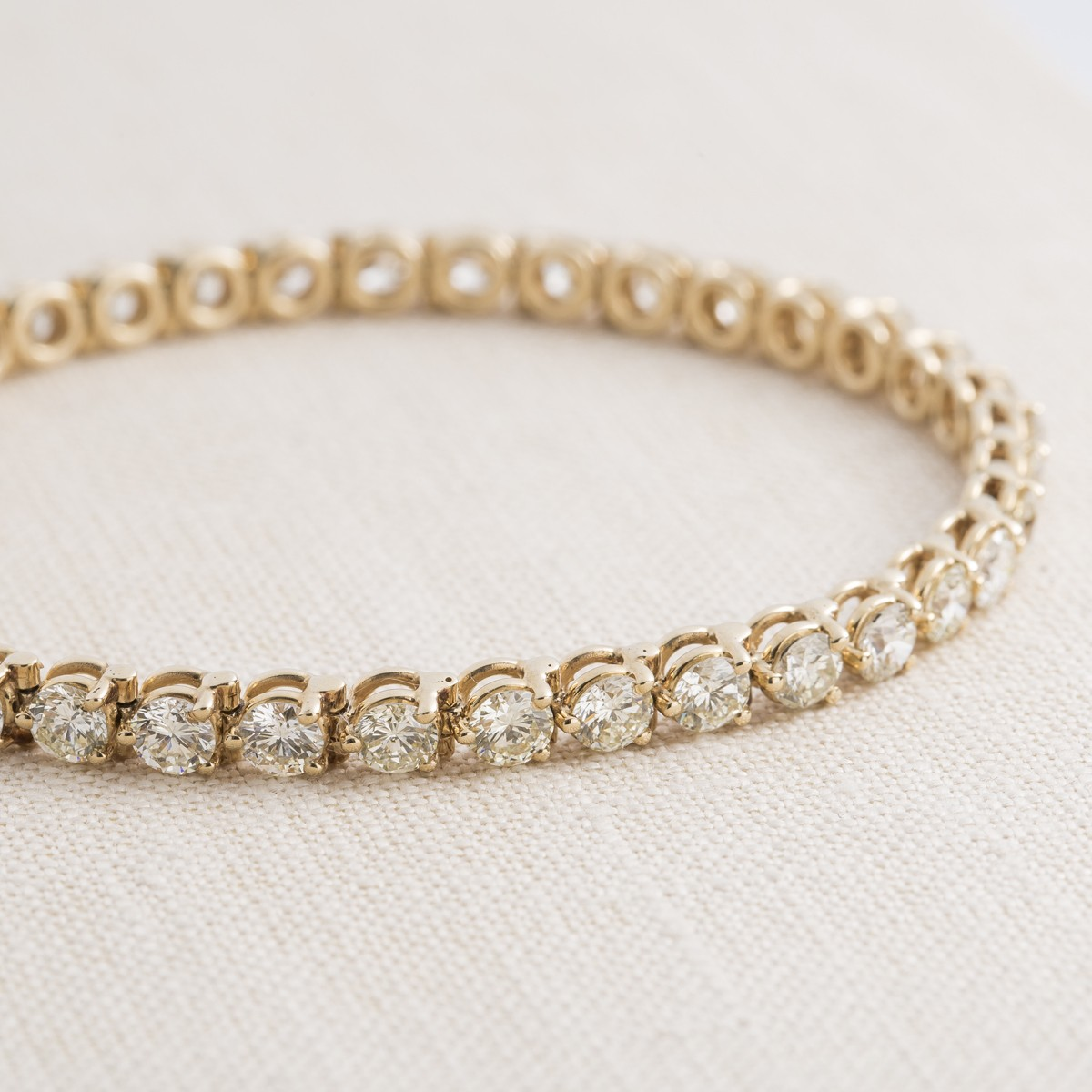 Vintage 14k Yellow Gold and Diamond Bracelet