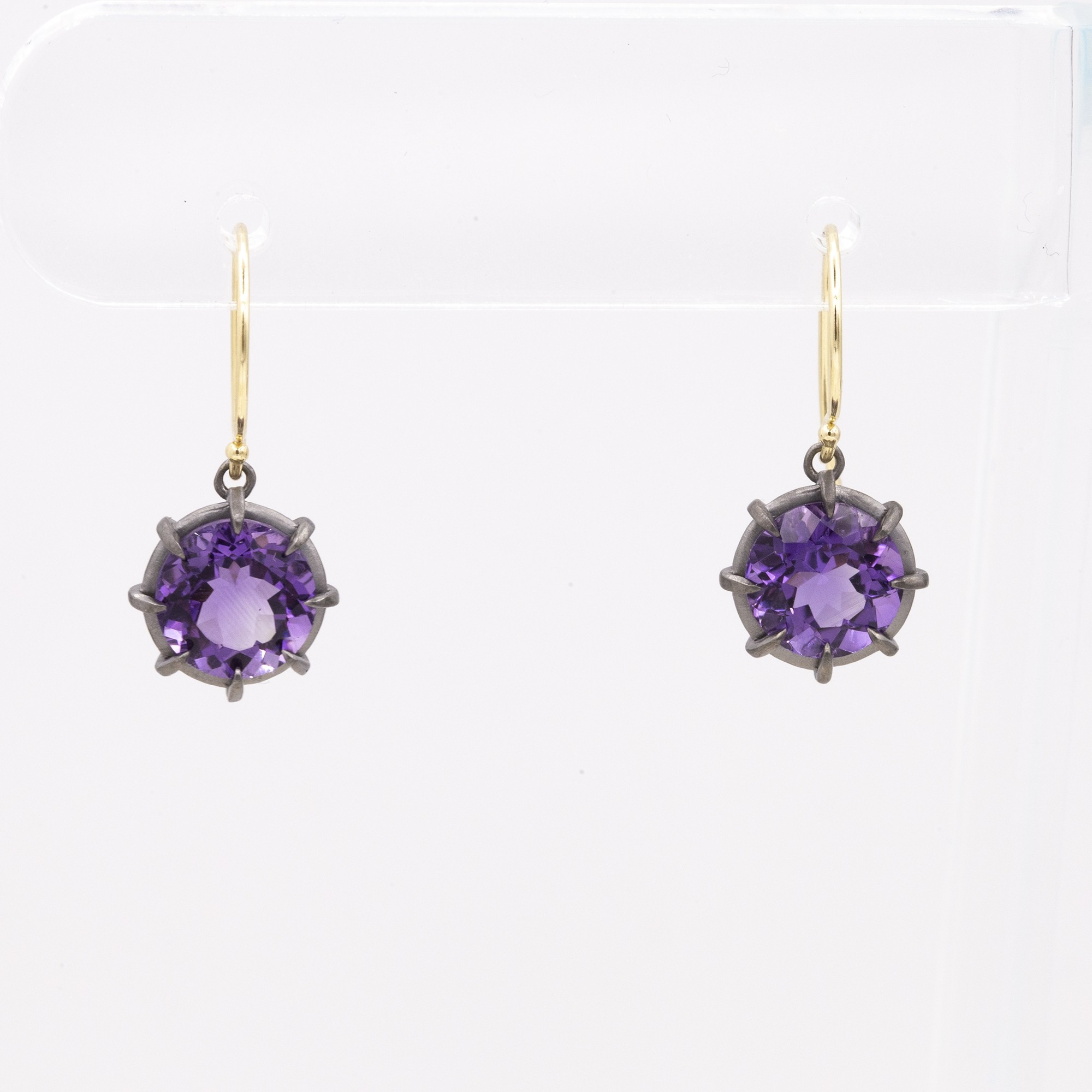 GEMMA COLLECTION AMETHYST PUSHBACK STUD EARRINGS