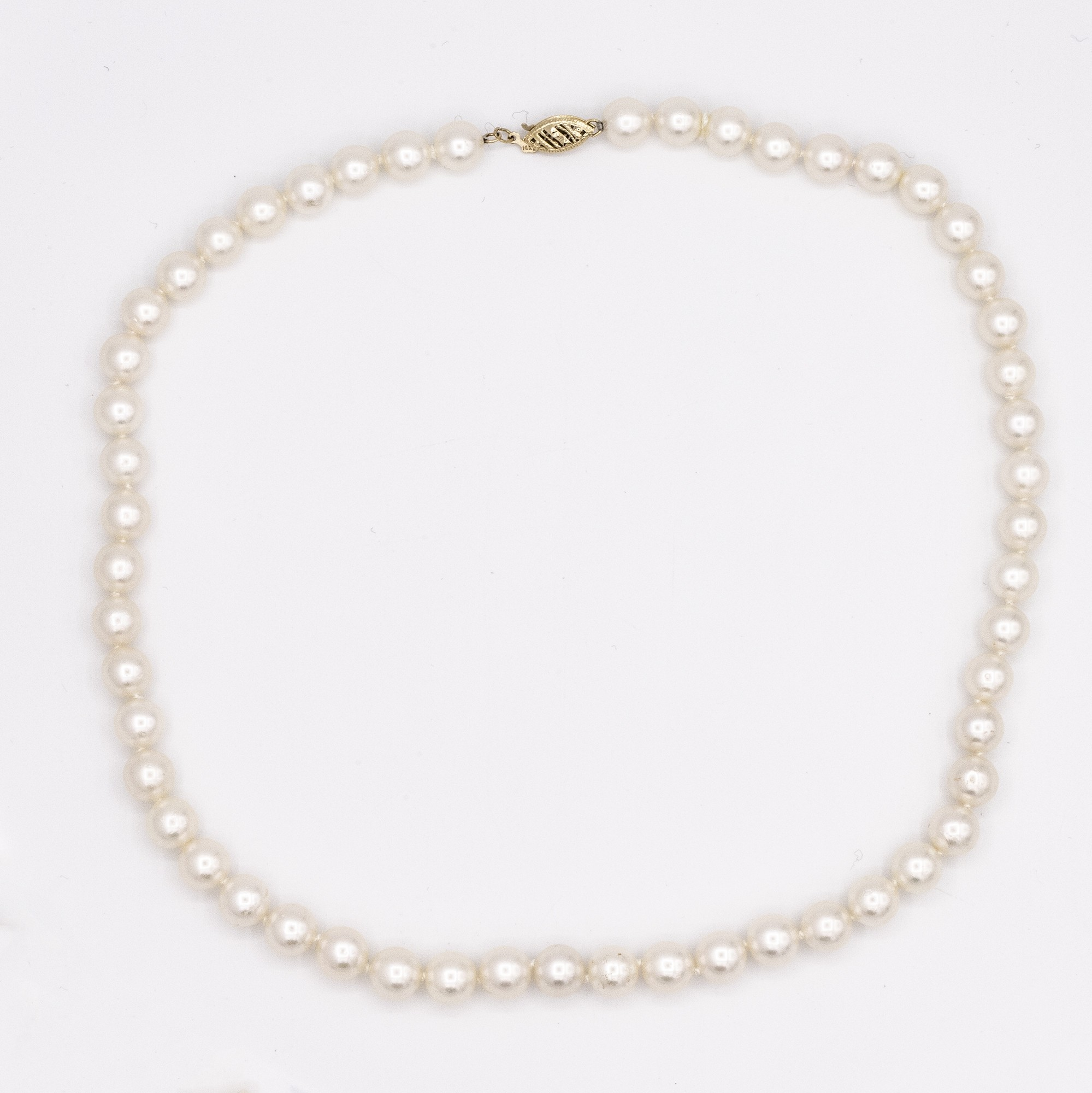 WHITE CULTURED PEARL STRAND NECKLACE