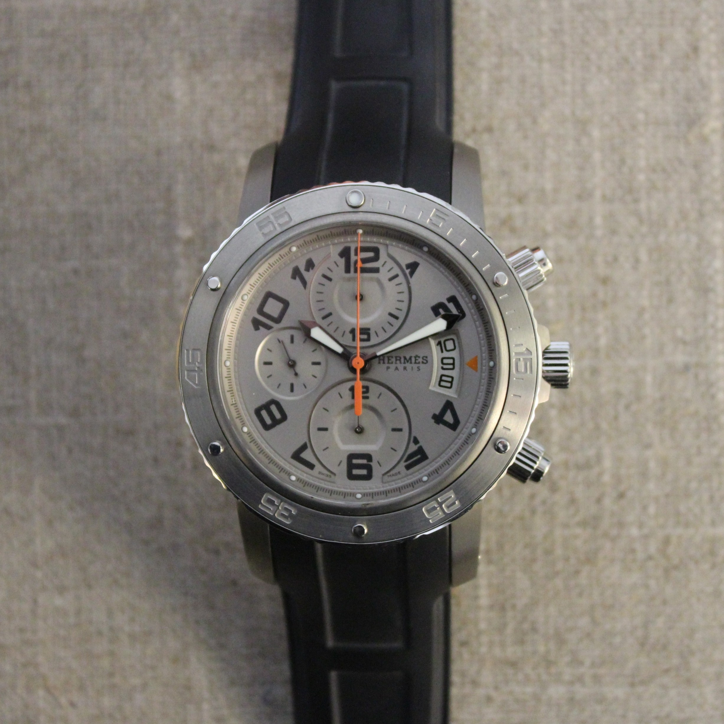 Stainless steel Hermes Clipper diver watch
