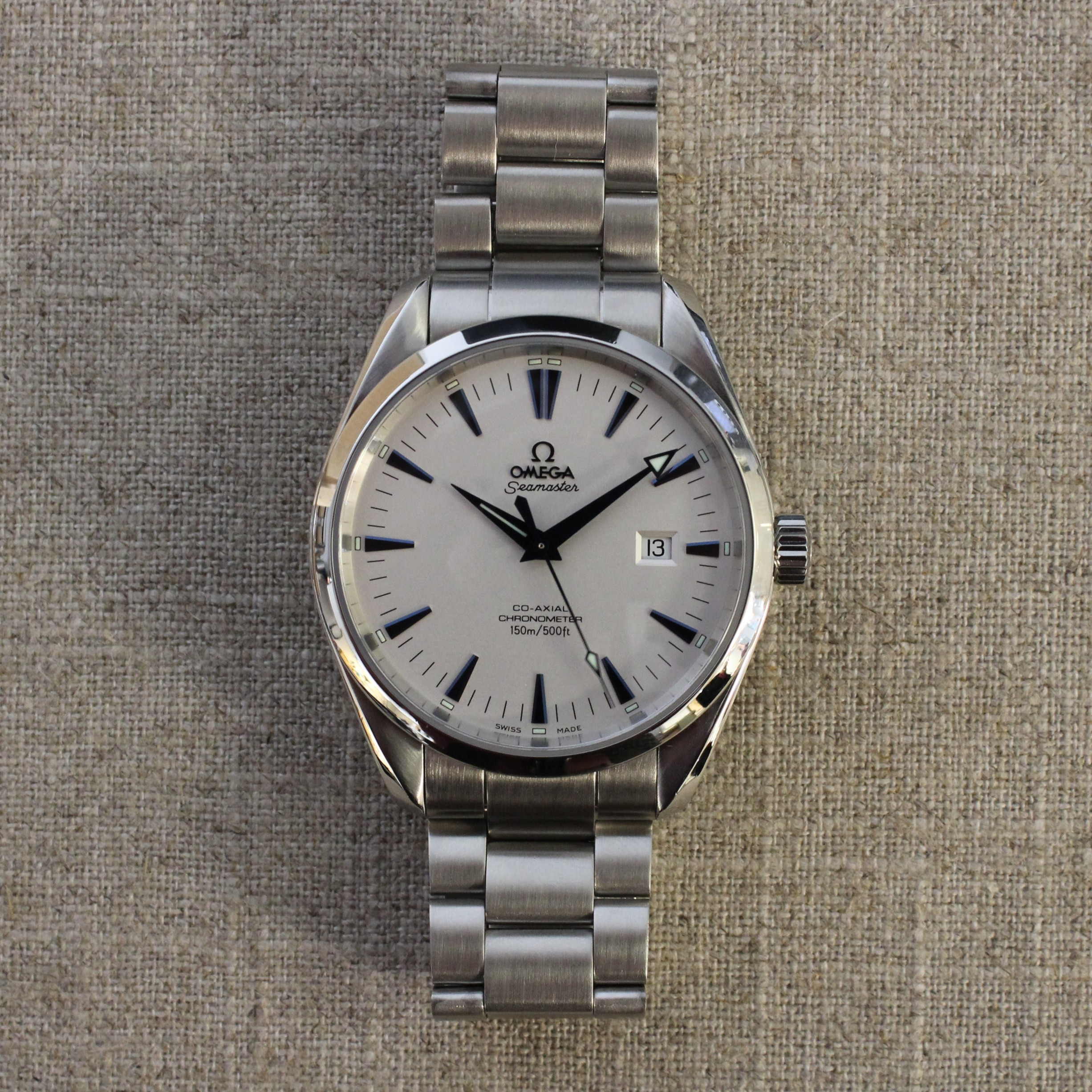STAINLESS STEEL OMEGA SEAMASTER 42MM MODEL NO. 2802.33.37