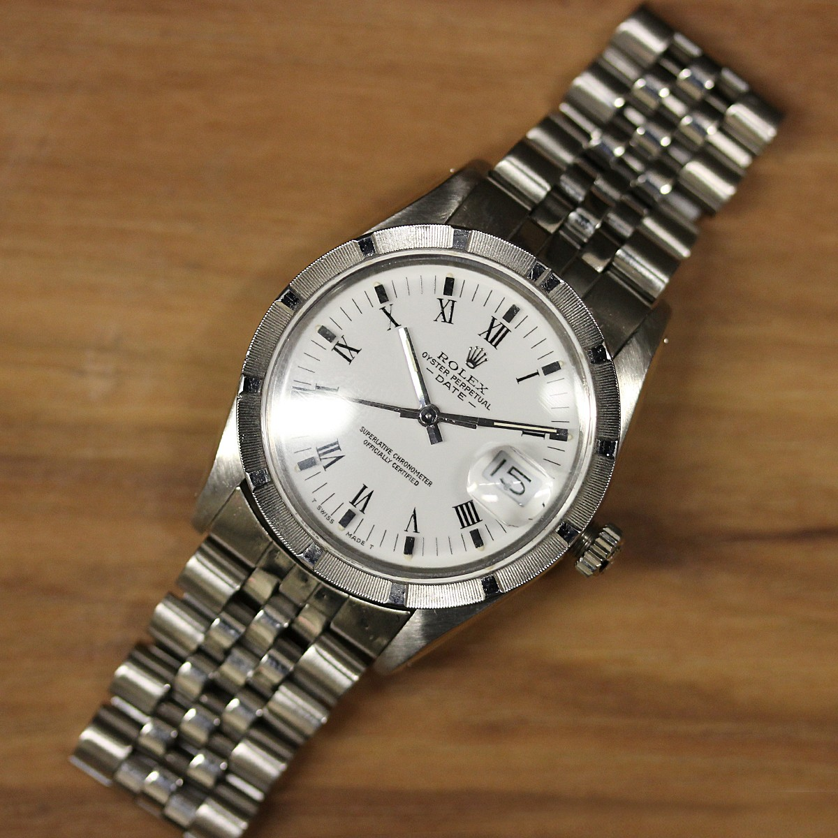 Stainless Steel 34mm Rolex Oyster Perpetual Circa 1985