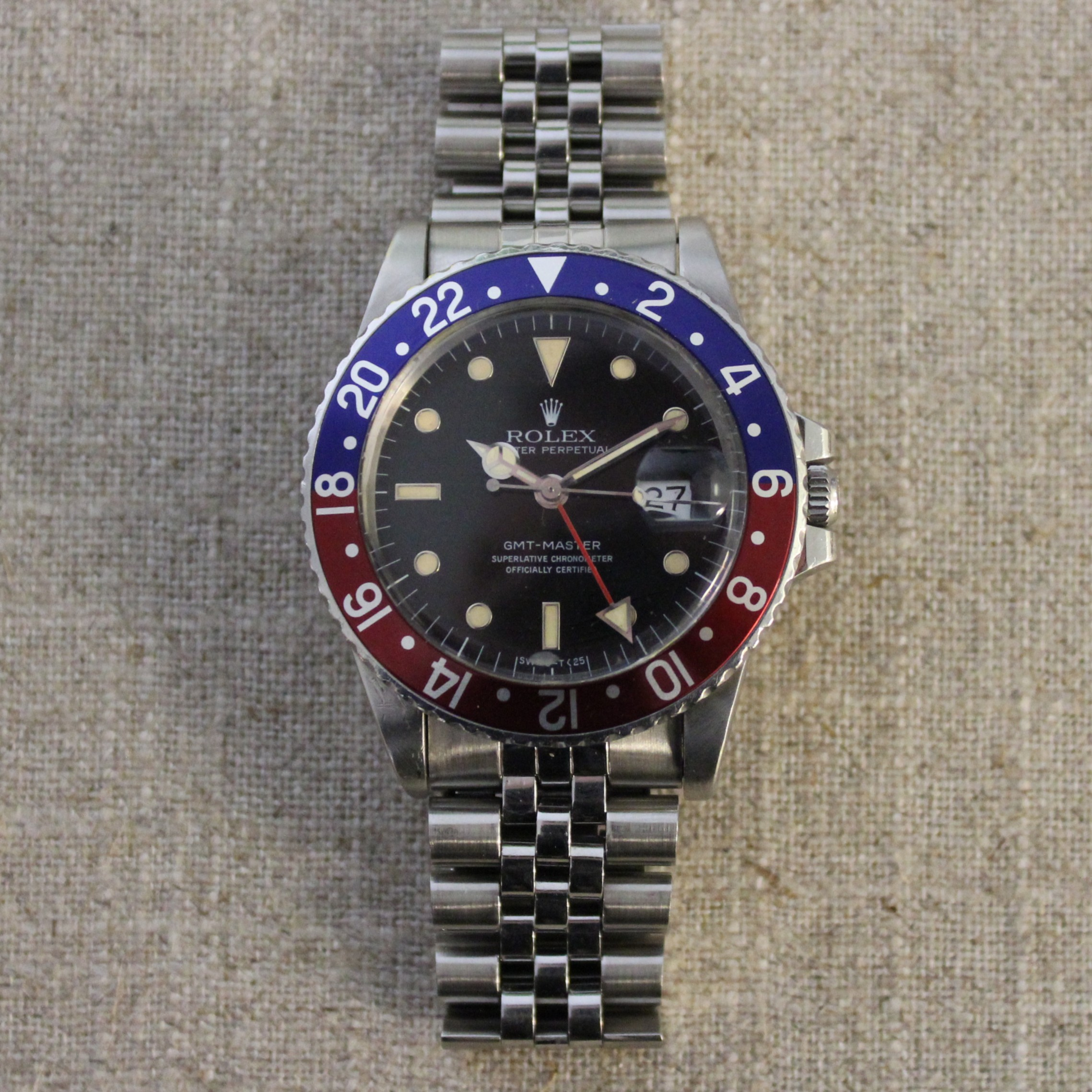 Stainless Steel Rolex Oyster Perpetual GMT Master Circa 1984